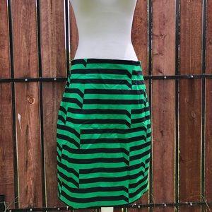 NWOT Worthington Striped Pencil Skirt Green Sz 14